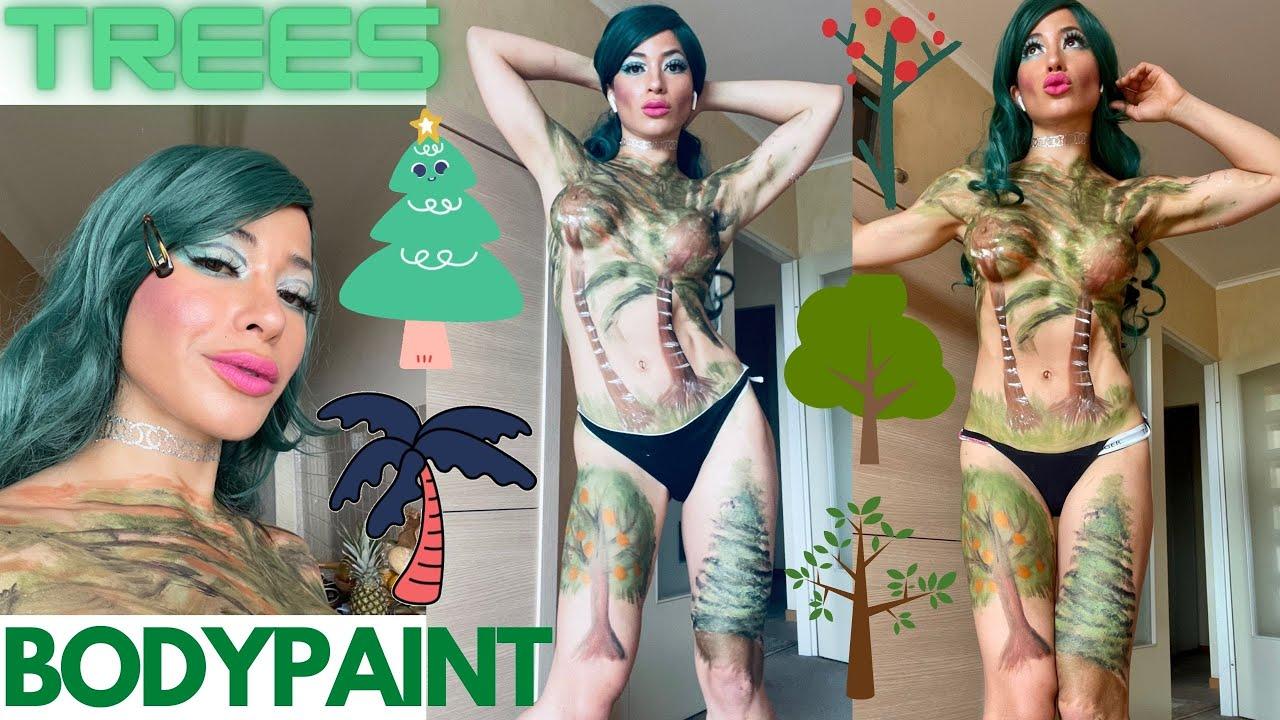 International Tree Day BodyPaint / Dia Mundial Arbol BodyPainting / Como Pintar Arboles / Paint Tree