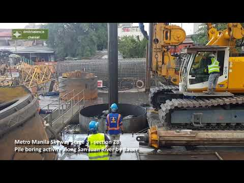 Metro Manila Skyway Stage 3 - Section 2B offshore pile borin