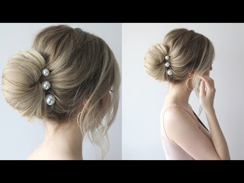 HOW TO: SIMPLE BUN PROM HAIRSTYLES 2018