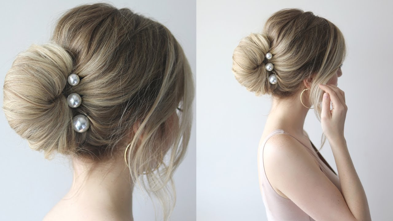 How To Simple Bun Prom Hairstyles 2018