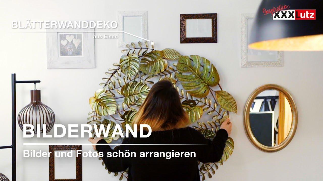 DIY Wanddeko - Bilderrahmen stilsicher anordnen - XXXLutz - YouTube