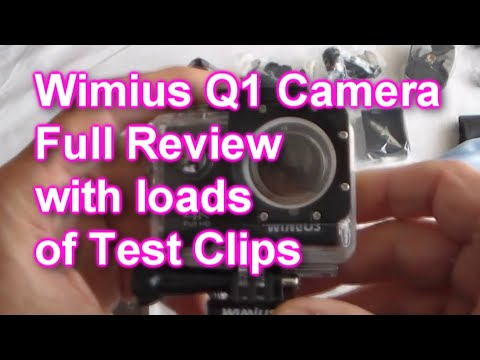 WiMiUS Q1 4K Action Camera Unboxed + How to Use, including wifi +  LOADS of Test Clips