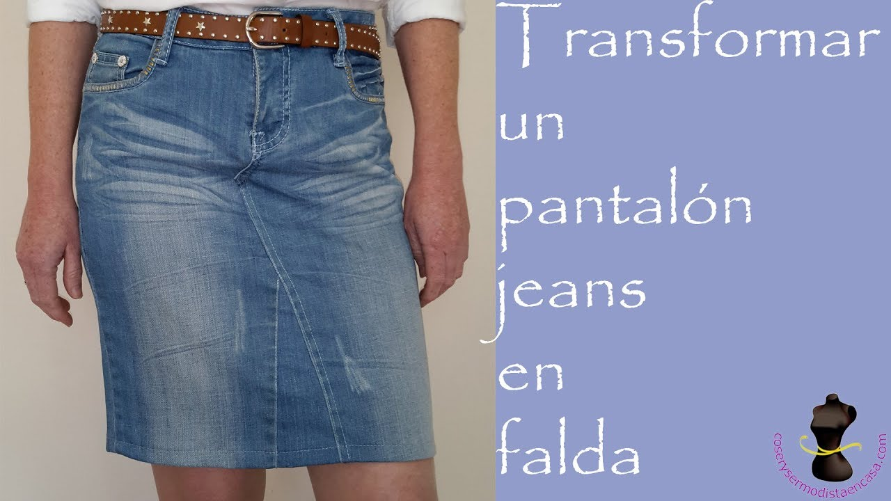 7d807d185 How to convert jeans into a skirt