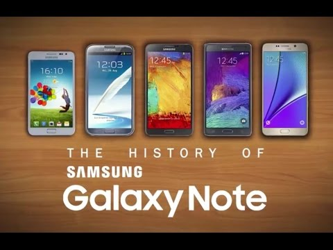 The history of the Samsung Galaxy Note series (Note - Note5)