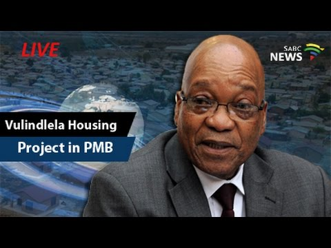 President Zuma visit the Vulindlela Rural Housing Project in KZN