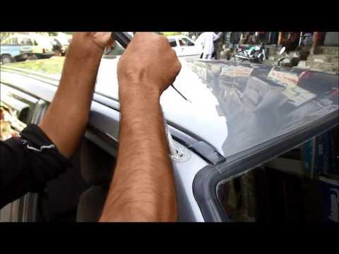how to install replace radio antenna  in your car Suzuki mahran vxr cultus bolan  youtube