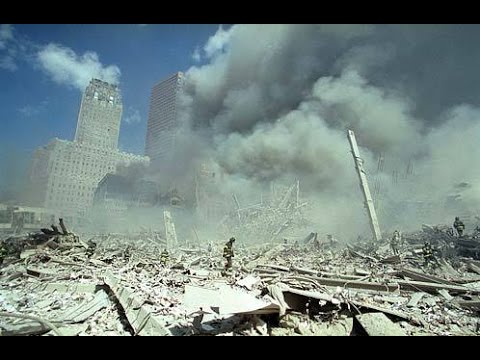 WTC 5 & 7 Fuming After North Tower Became Dust - Raw Footage