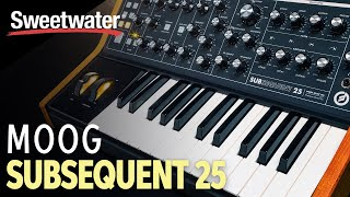 Moog Subsequent 25 Analog Synthesizer Demo by Daniel Fisher