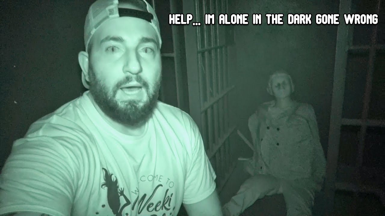 ATTACKED BY A DEMON IN A HAUNTED JAIL ALONE IN THE DARK GONE WRONG!