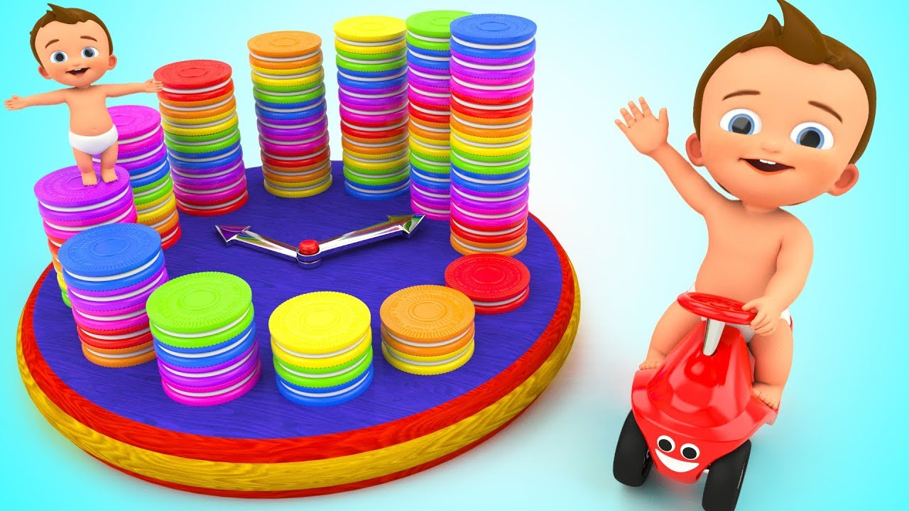 Cream Biscuits Clock Wooden Toy - Learn Numbers for Kids Baby Children Educational Toys