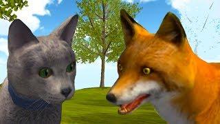 Симулятор КОТА и КОШКИ 4 Котики против Лисы Боссов мыши и енота. Новая порода Кида на пурумчата