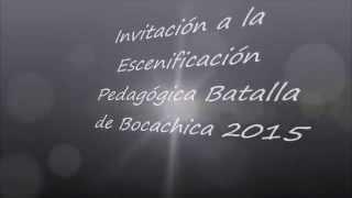 Invitacion a la Escenificación Pedagógica Batalla de Bocachica
