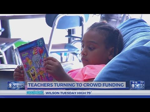 Teachers turning to crowd funding