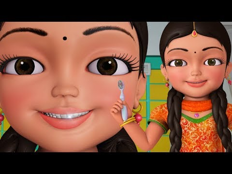 Brush Karo Brush Karo | Good Habit Hindi Rhymes for Children | Infobells