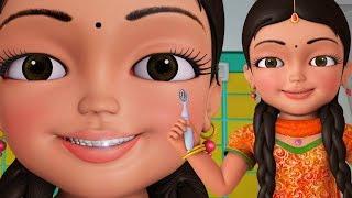 Brush Karo Brush Karo | Good Habit Hindi Rhymes for Children | Infobells