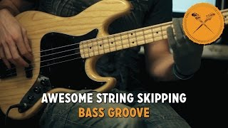 awesome string skipping bass groove lesson with scott s bass lessons