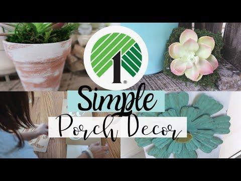 DOLLAR TREE DIY   SIMPLE PORCH DIY DECOR   SUCCULENT DECOR   EASY FRONT PORCH SIGN