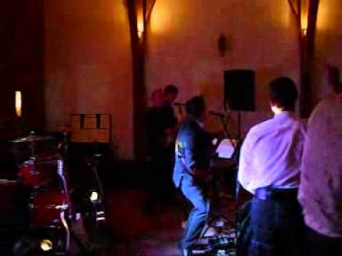 Copy of Superfuzz wedding band performing at Swancar Farm