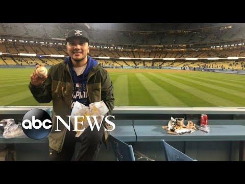 LA Dodgers player hits home run, surprises fan with nachos   WNT