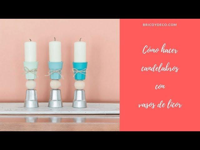 Cómo hacer candelabros con vasos de licor | BRICOYDECO BRICOLAJE DECORACION SPRAY PAINT