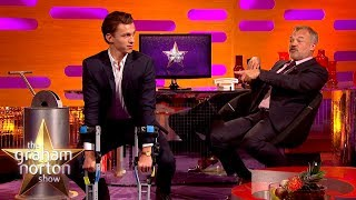 tom holland does an amazing chimp impression   the graham norton show