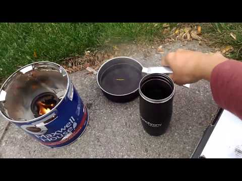 Cardboard coffee tin wood cook stove - Great Canadian v2