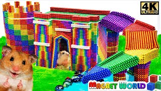 DIY - Howto  Build Amazing Castle for Hamster and Turtle with Magnet World (Satisfying)| Series #211