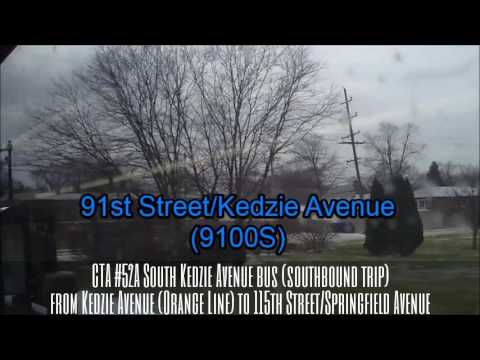 Cta 52a South Kedzie Avenue Bus Sb Trip Route From