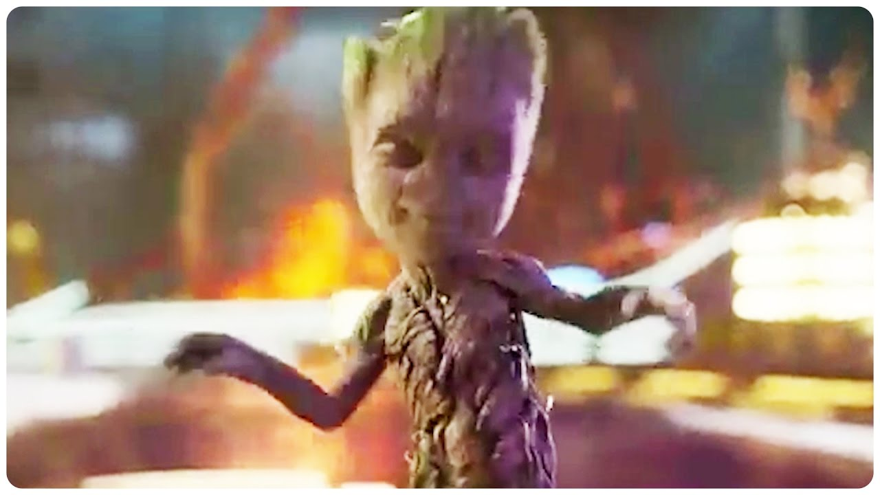 Baby Groot Guardians Of The Galaxy Vol 2 Hd Movies 4k: Guardians Of The Galaxy 2 Dancing Baby Groot Trailer (2017