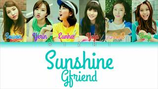 Gfriend 여자친구 sunshine (나의 일기장) colour coded lyrics by rizki