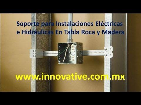 Soporte para Instalaciones Electricas e Hidraulicas en Tablaroca o Madera