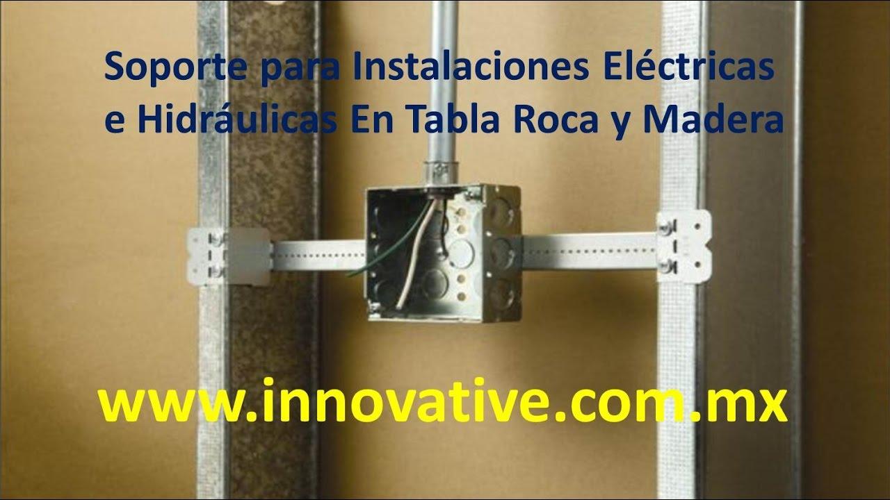 Soporte para instalaciones electricas e hidraulicas en tablaroca o madera youtube - Tuberia para instalacion electrica ...