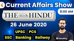 8:00 AM - Daily Current Affairs 2020 by Bhunesh Sir | 26 June 2020 | wifistudy