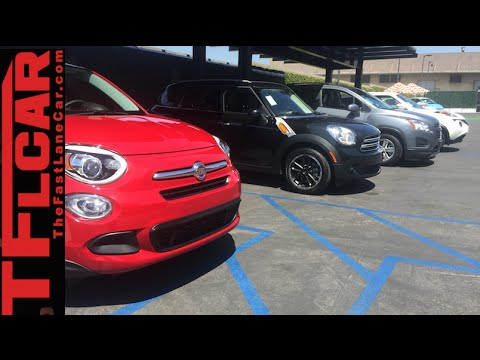 2016 Fiat 500X vs Nissan Juke vs Chevy Trax vs MINI Countryman Mega Mashup Review