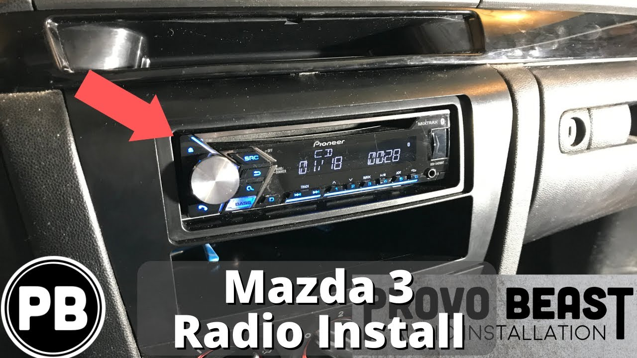 2004 - 2009 Mazda 3 Bluetooth Radio Install | DEH-S410BT - YouTubeYouTube