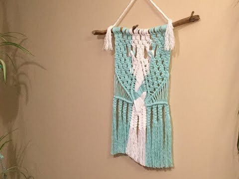 HOW TO - Macrame hanging with unique woven centre