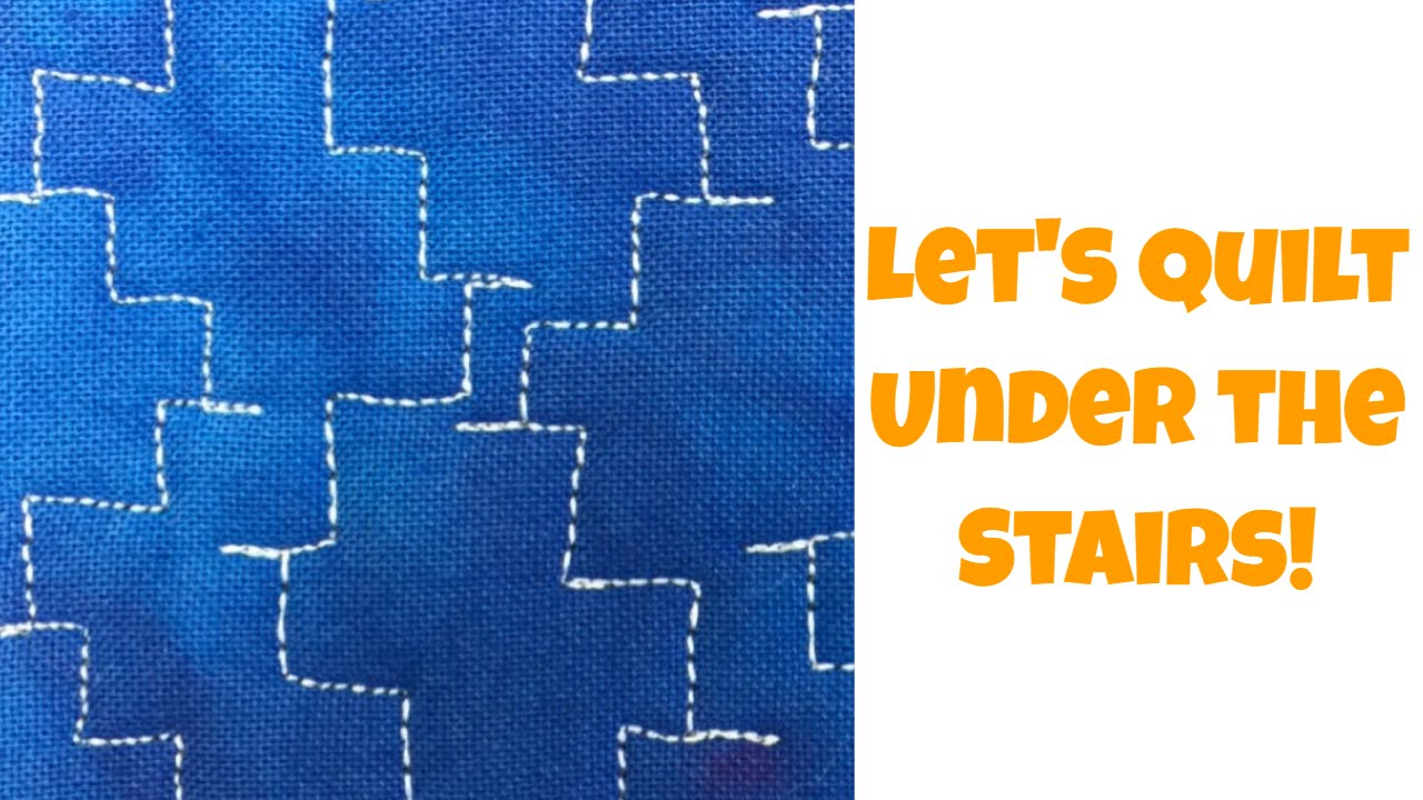 Free Motion Machine Quilting Tutorial With Leah Day Under The Stairs 479