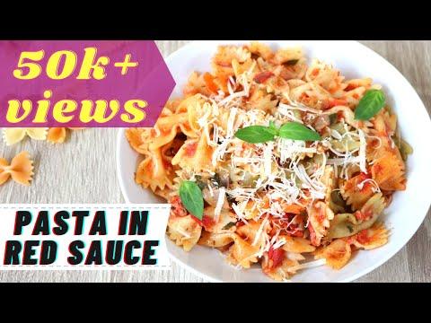 Easy Red Sauce Pasta | Farfalle Pasta In Tomato Sauce | Pasta Recipe | Arrabiata