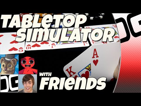 Tabletop Simulator - 4 Idiots Playing Texas Hold'em Poker