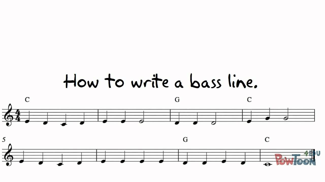 How to write a bass line for a song
