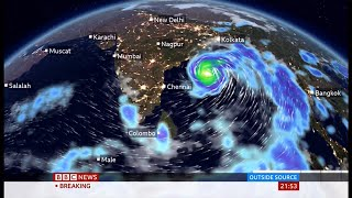 Weather Events 2020 - Cyclone Amphan approach warning (India & Bangladesh) - BBC News - 18 May 2020