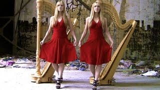 BAD ROMANCE - Lady Gaga (Harp Twins) Camille and Kennerly, Harp Duet
