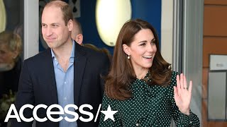 Kate Middleton Gets In The Holiday Spirit In A Green & White Polka Dot Dress | Access