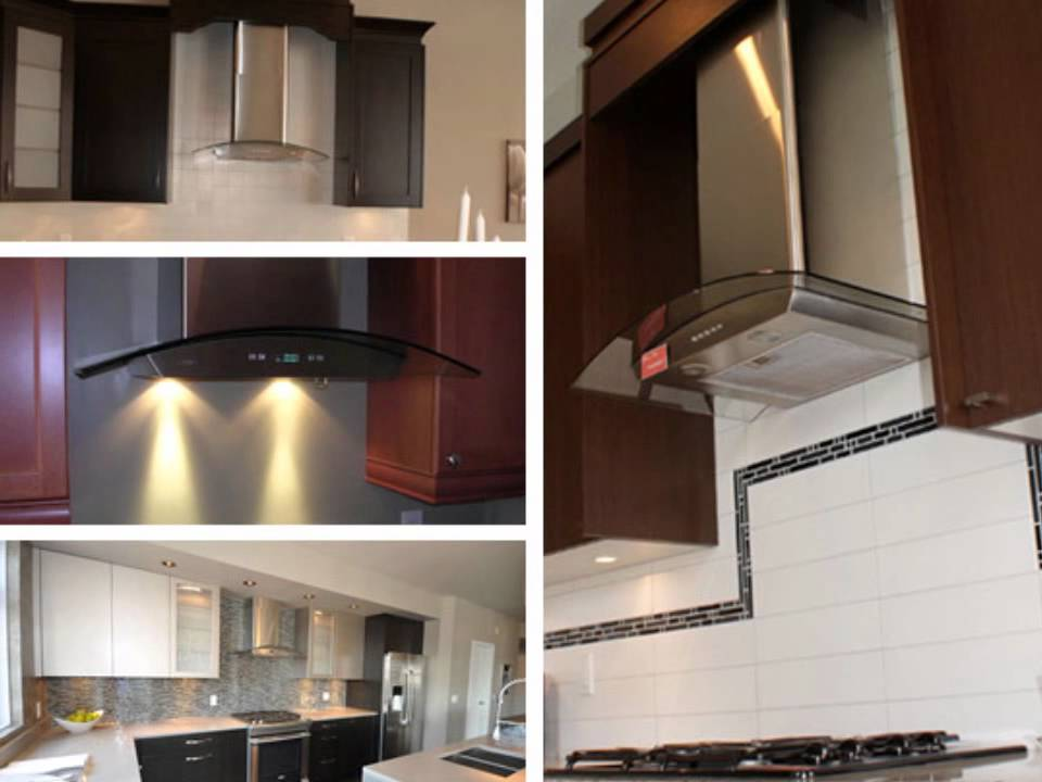 akdy 30 glass stainless steel wall mount range hood az668as75 youtube