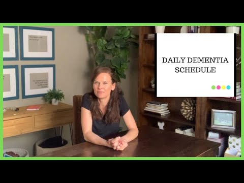 How to make a daily dementia routine for home
