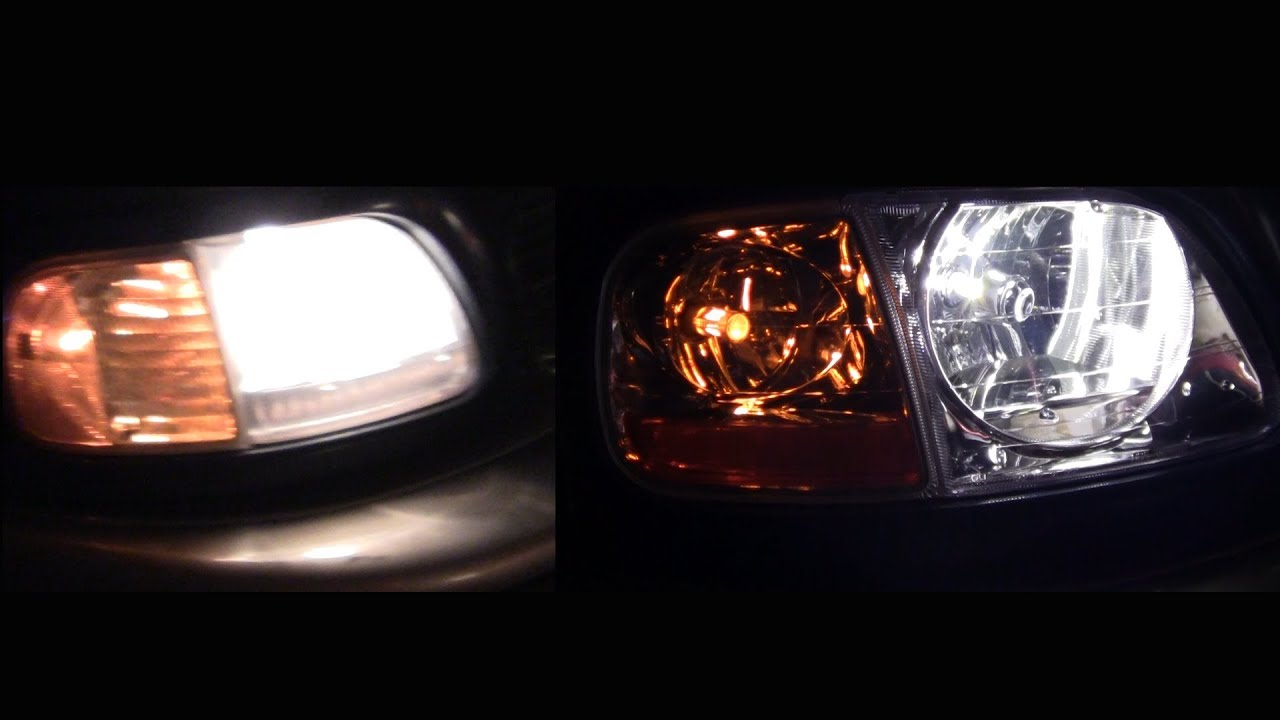 Expedition Or F 150 Headlights To Lightning Led Conversion 1997 2002 2003 For F 150 Youtube