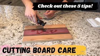 How to Care for Wooden Cutting Boards || 5 helpful tips to make them last!