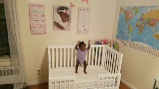 Karla Dubois Oslo Crib Toddler Rail with Drawers Mod!