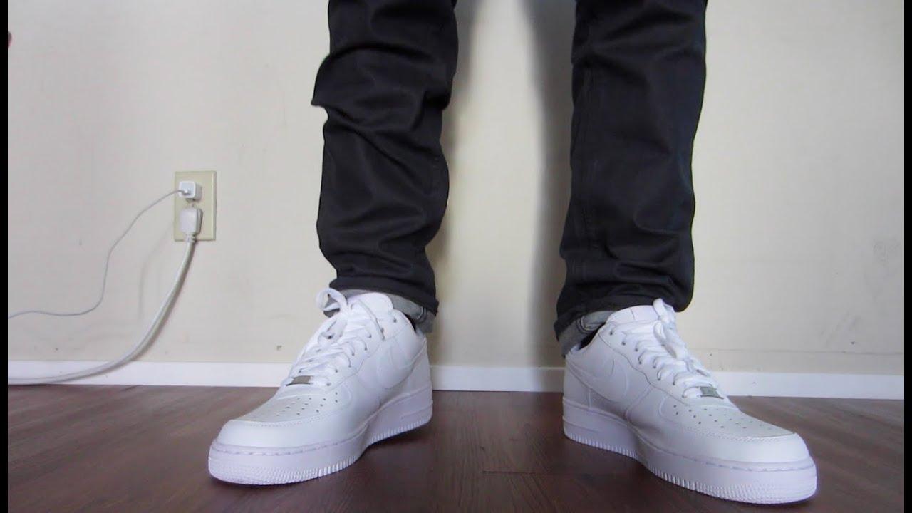 0e1bda12a82e9 Nike Air Force 1 Mid White On Feet