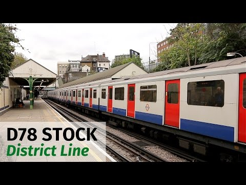London Underground: Old D78 Stock at West Kensington
